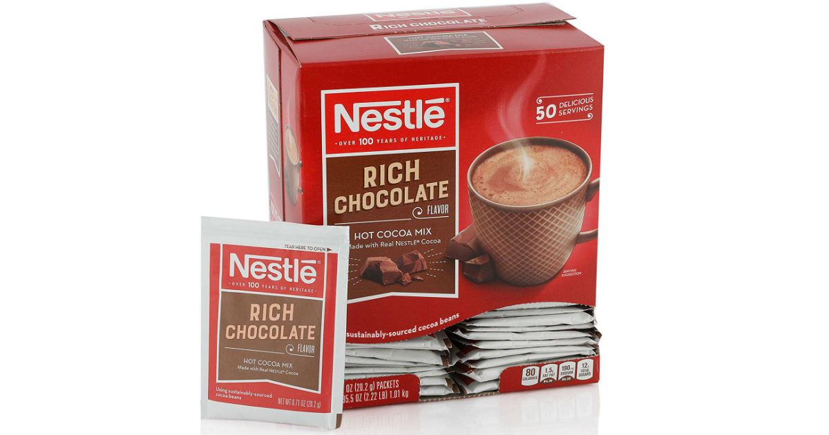 Nestle Hot Cocoa Mix  50-Pack ONLY $5.62 Shipped