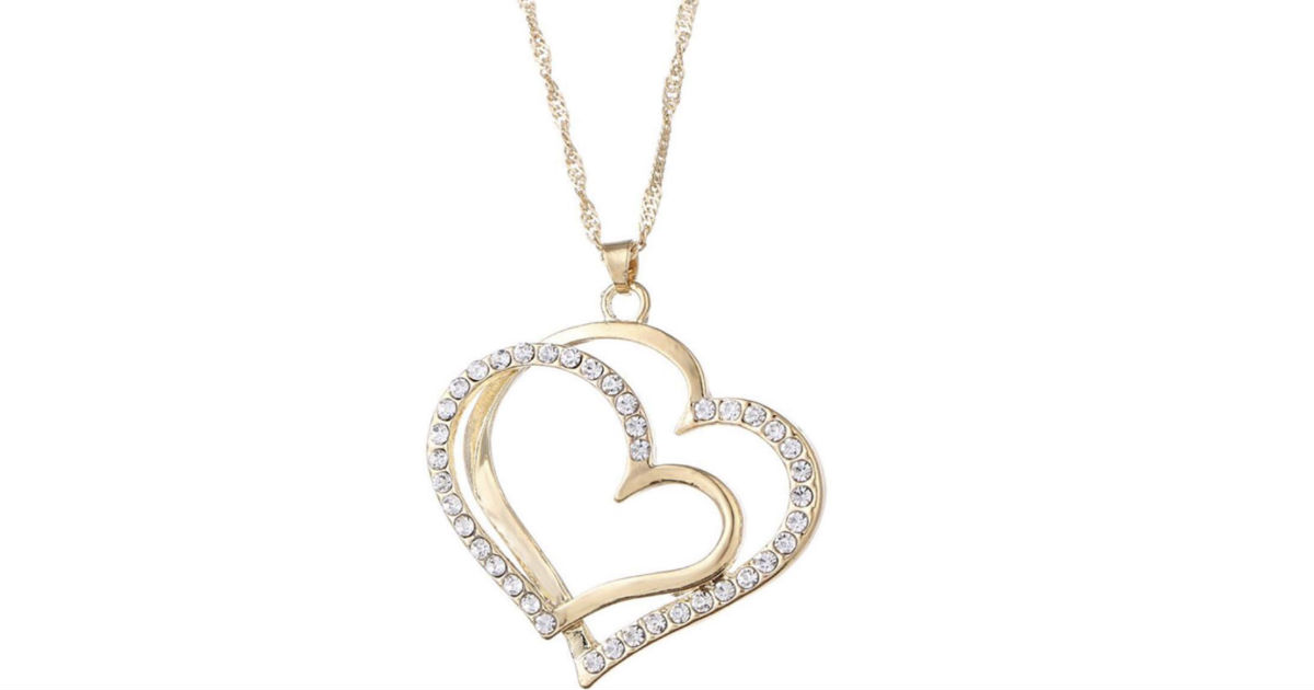 Romantic Crystal Heart Necklace on Amazon
