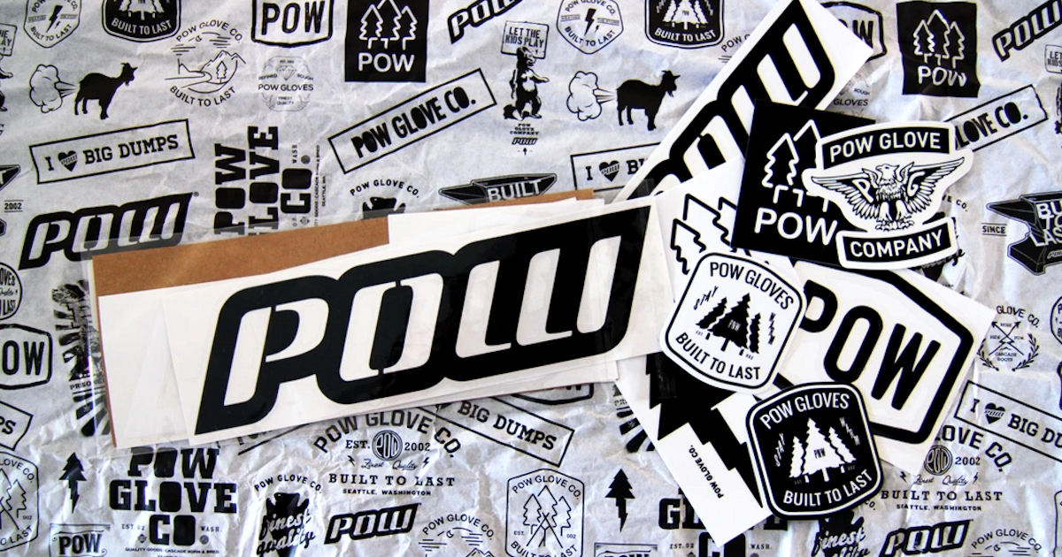 FREE POW Gloves Sticker Pack..