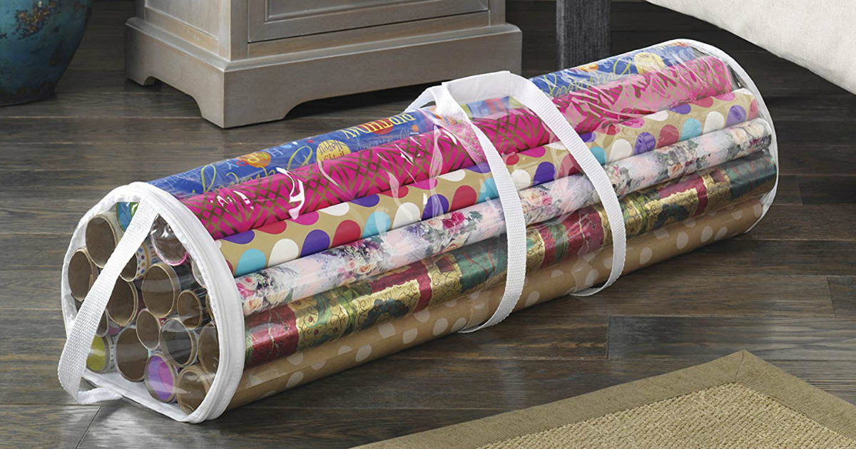 Whitmor Clear Gift Wrap Organizer ONLY $4.24 (Reg. $10)