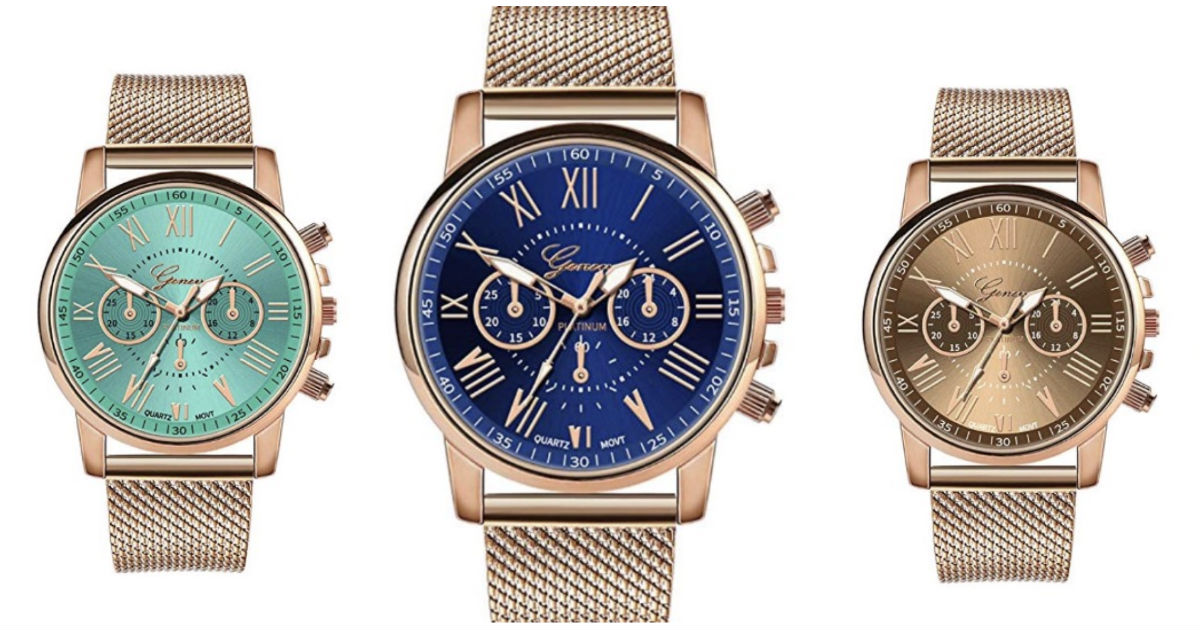 Luxury Quartz Stainless Steel Watch ONLY $2.99 Shipped