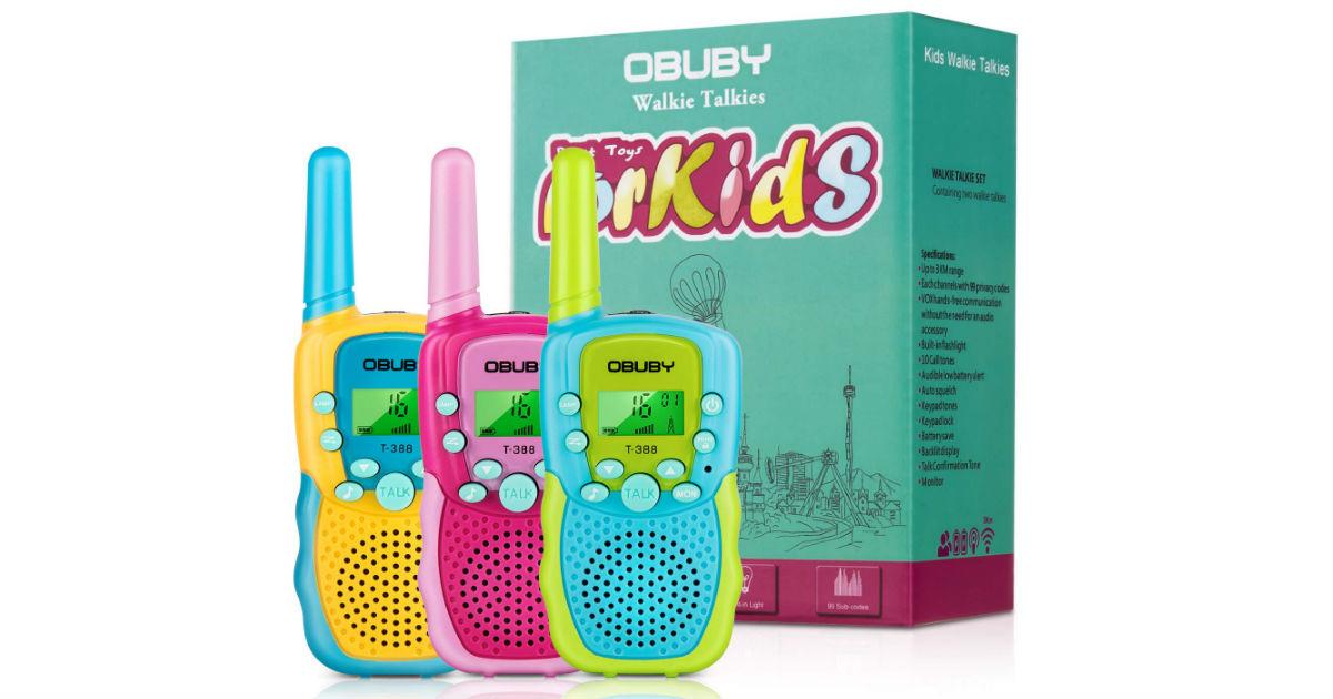 Obuby Walkie Talkies ONLY $18.99 (Reg. $37)
