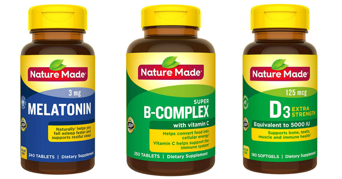 Save up to 62% on Nature Made Vitamins & Supplements