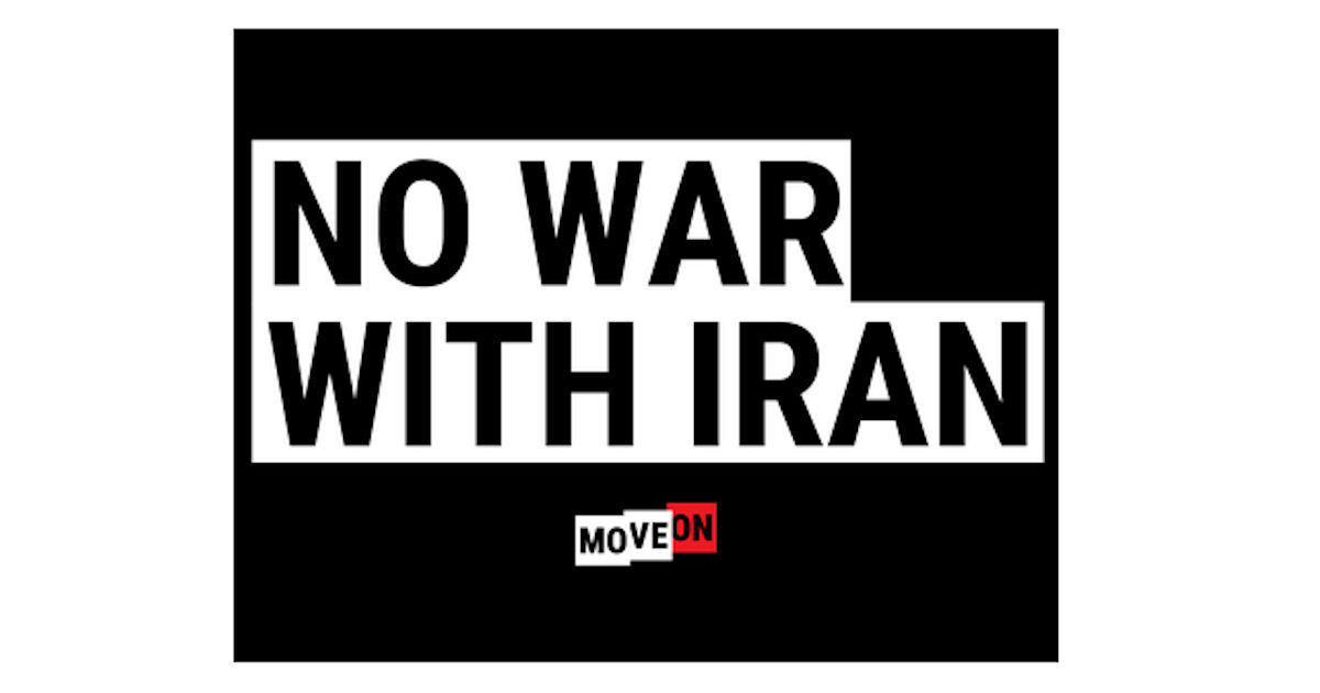 FREE No War with Iran Sticker.