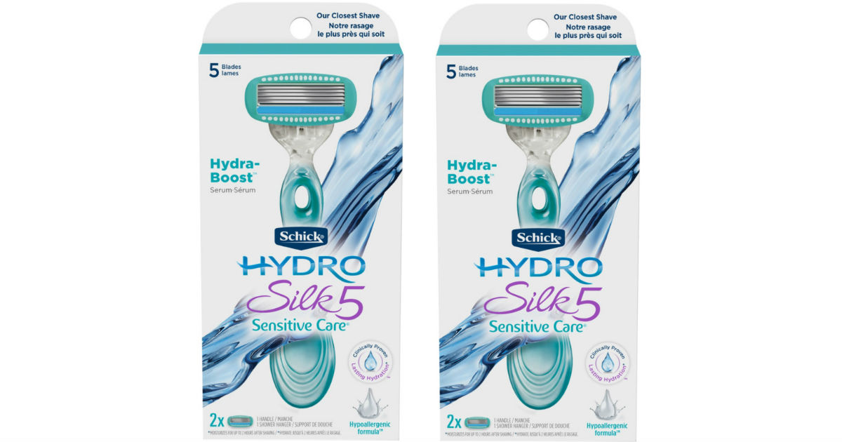 Schick Hydro Silk 5 Sensitive Care Razor ONLY $2.39 at Target