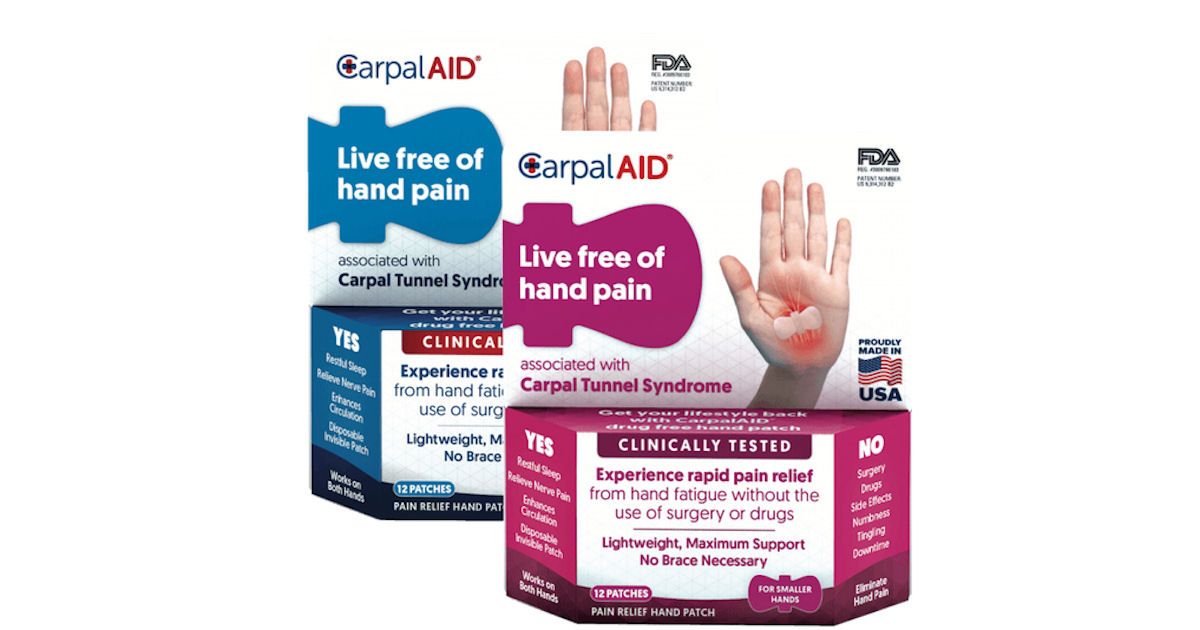 FREE Sample of CarpalAID Pain.
