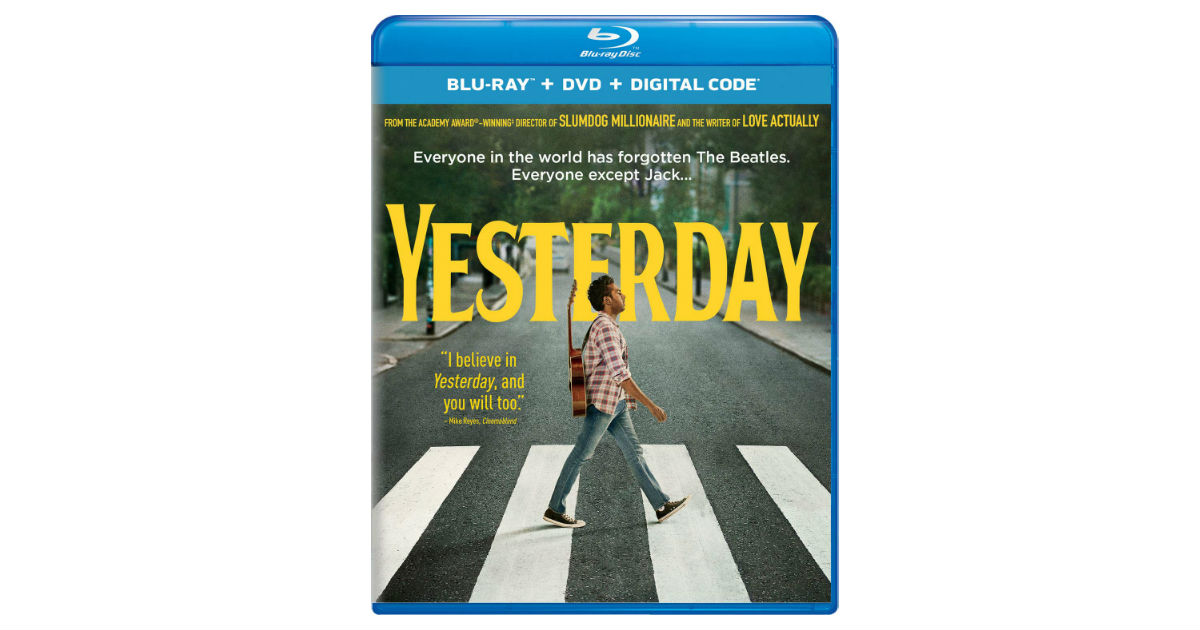 Yesterday Blu-ray + Digital ONLY $10 (Reg. $23)