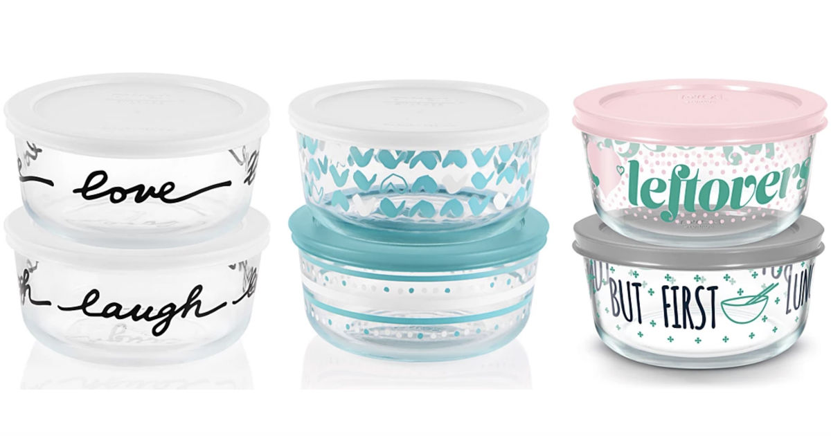 Pyrex 4-Pc Decorated Storage Sets ONLY $9.99 at Macy's (Reg $24)