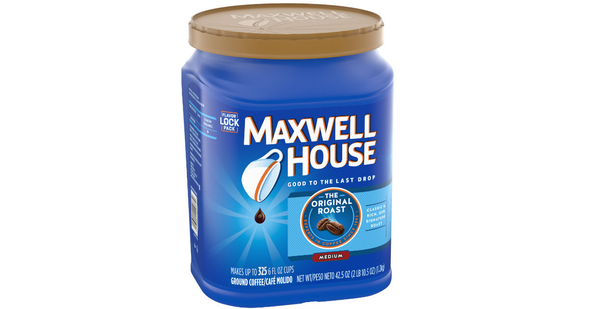 TWO Maxwell House Ground Coffee Canisters ONLY $12.02 at Walmart