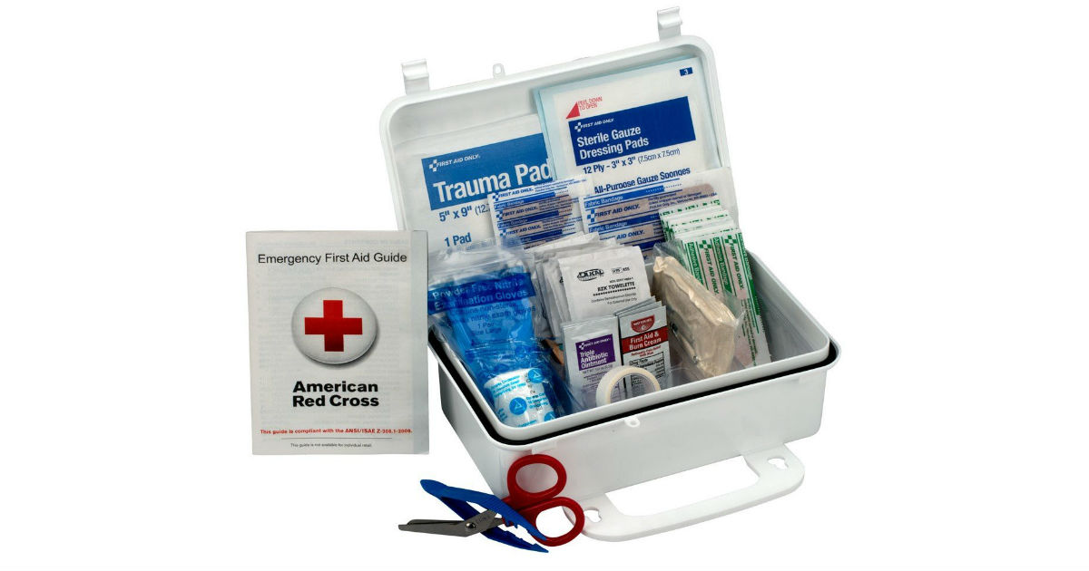 First Aid 10-Person Kit ONLY $10.29(Reg. $21)