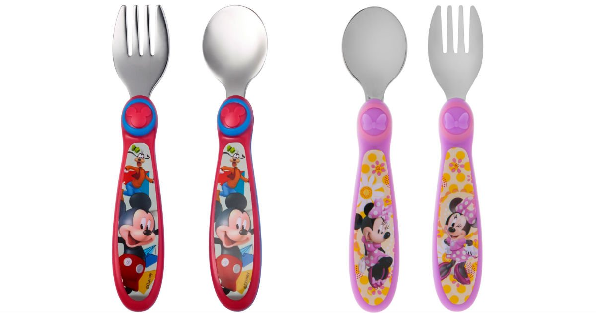 The First Years Disney Mickey Mouse Flatware ONLY $2.48