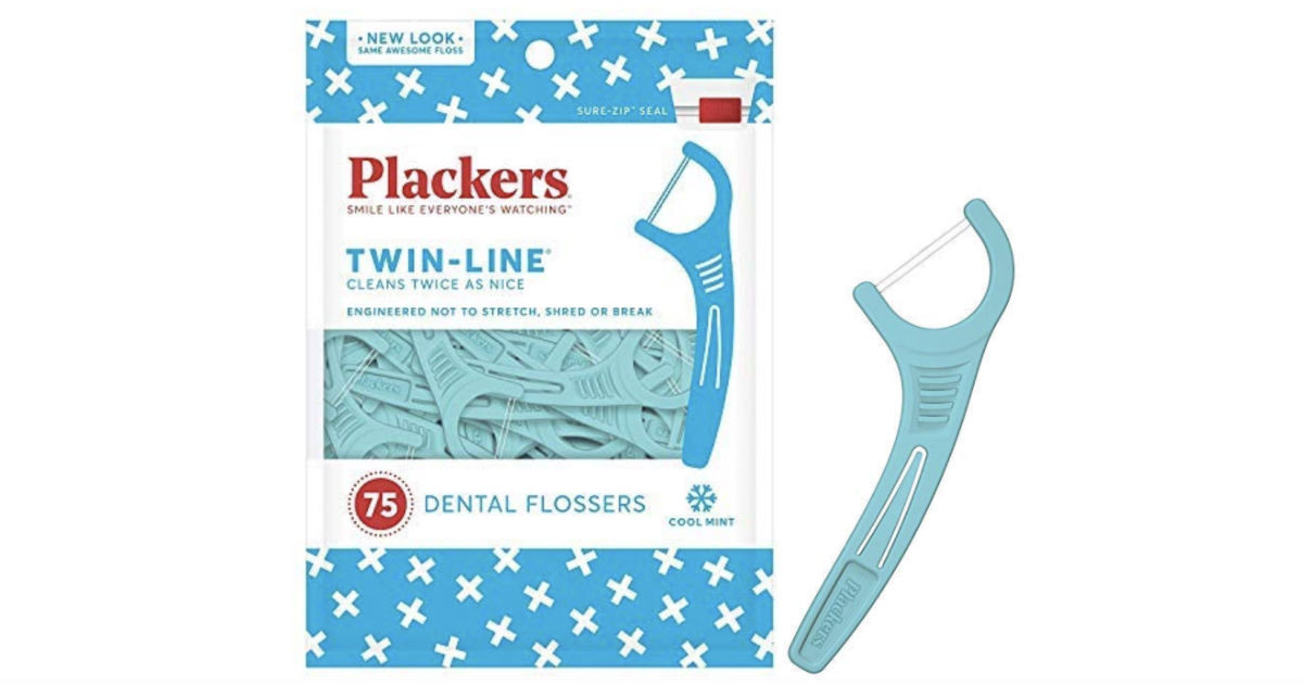 Plackers Twin-Line Dental Floss Picks 75-Ct ONLY $1.43 Shipped