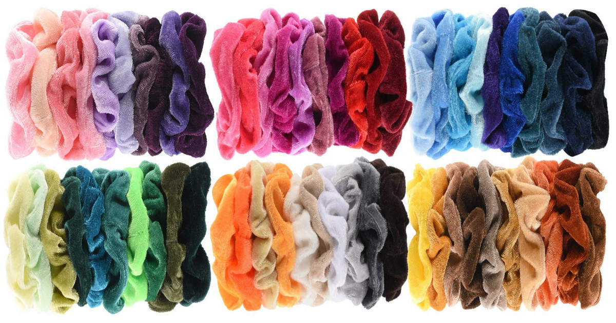 velvet scrunchies only 0 11 each on amazon daily deals