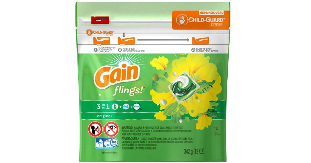 Gain Flings 14-Count ONLY $1.94 at Walmart After Rebate