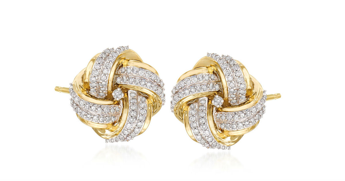 Win a $750 pair of Diamond Love Knot Earrings in 14kt Gold