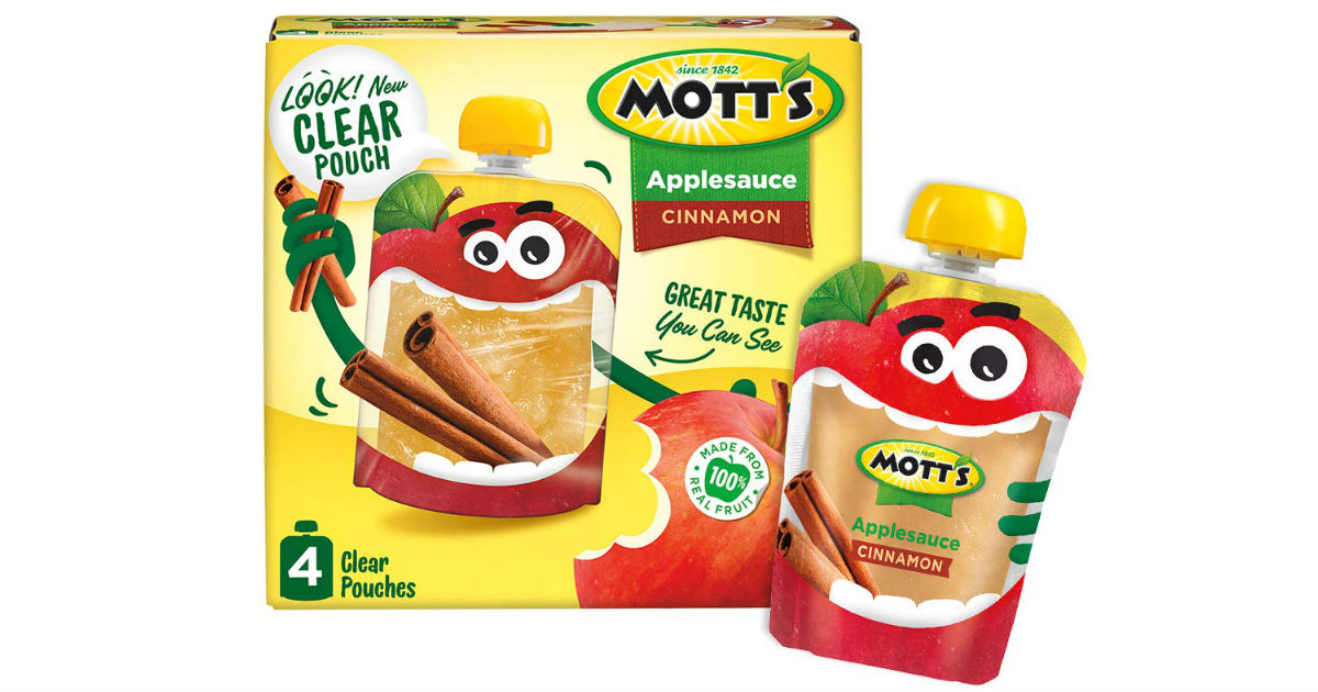 Mott's Apple Sauce Pouches 4-Count ONLY $1.25 at Walmart