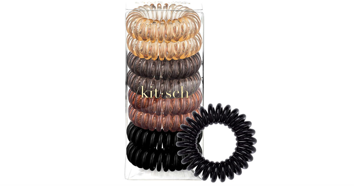 Kitsch Spiral Hair Ties 8-Pack ONLY $5.59 on Amazon