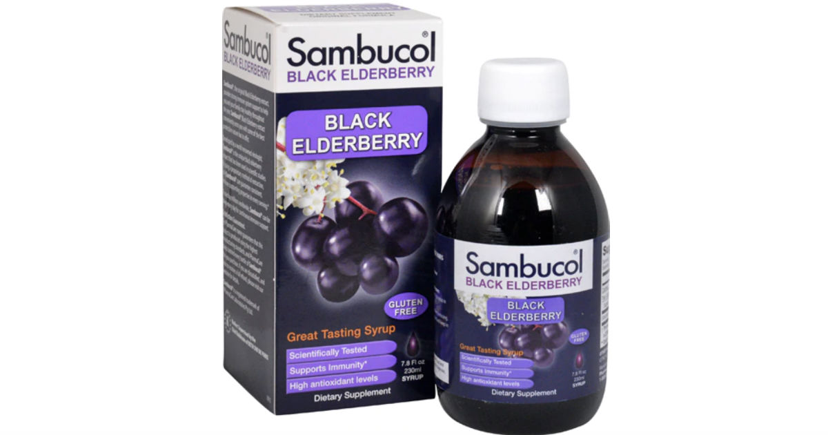 Sambucol Black Elderberry ONLY $7.29 at Target with New Coupon