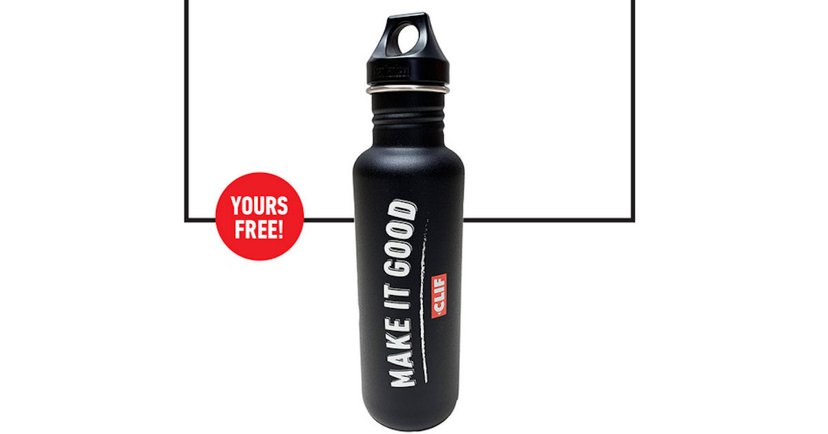 FREE Clif Bar Water Bottle...