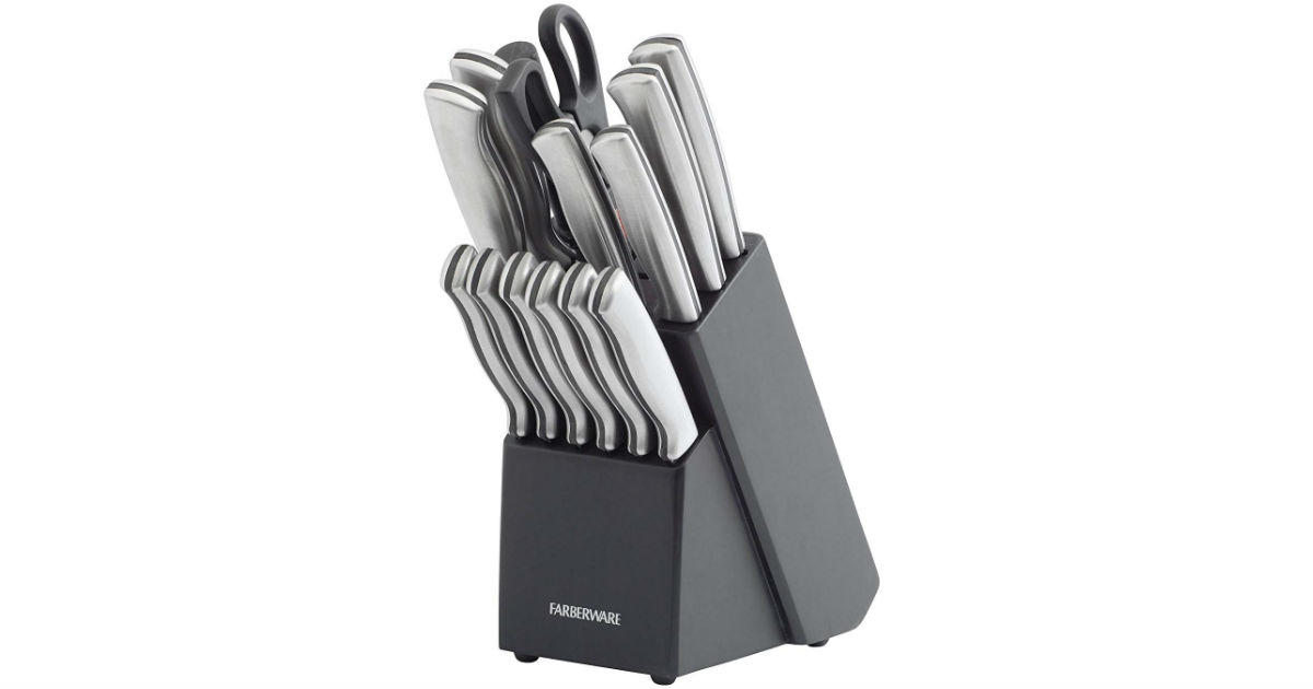 Farberware Stainless Steel Knives 15-Piece ONLY $31.99 on Amazon