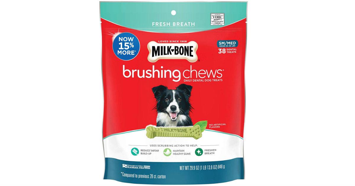Milk-Bone Brushing Chews Dental Dog Treats ONLY $10.19 Shipped
