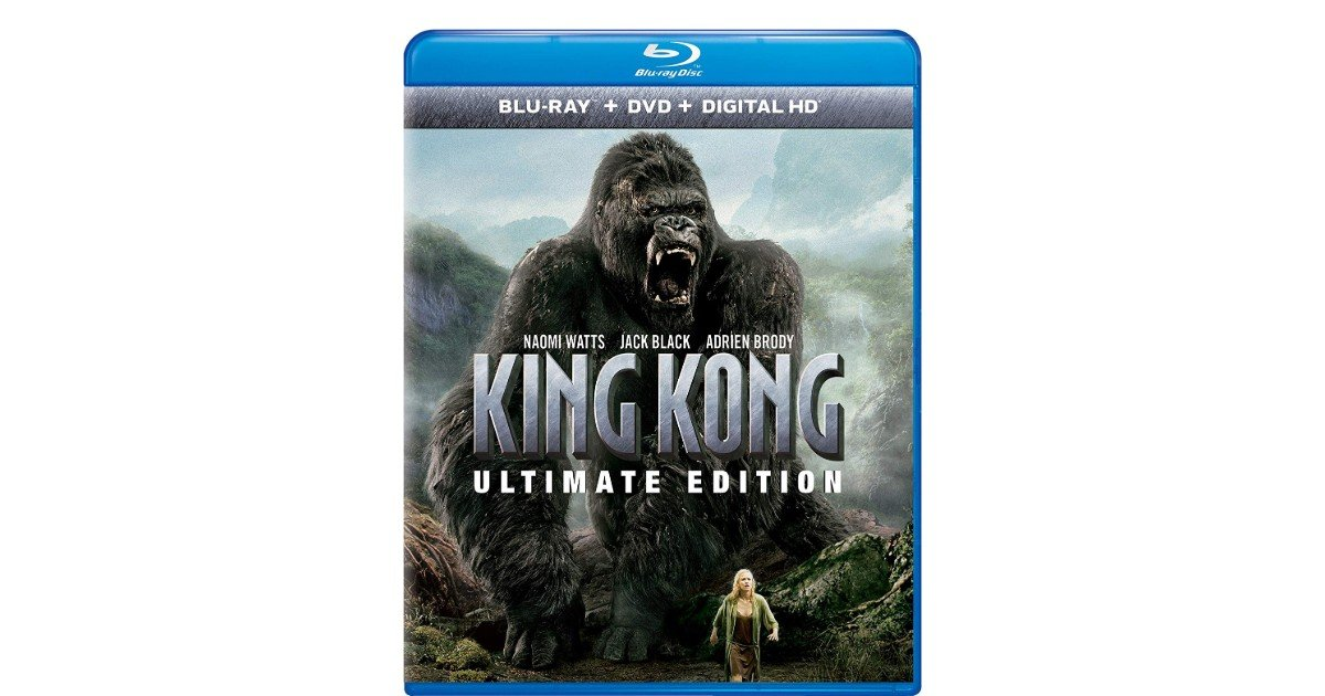 King Kong Ultimate Edition Blu-ray + DVD + Digital ONLY $4.99