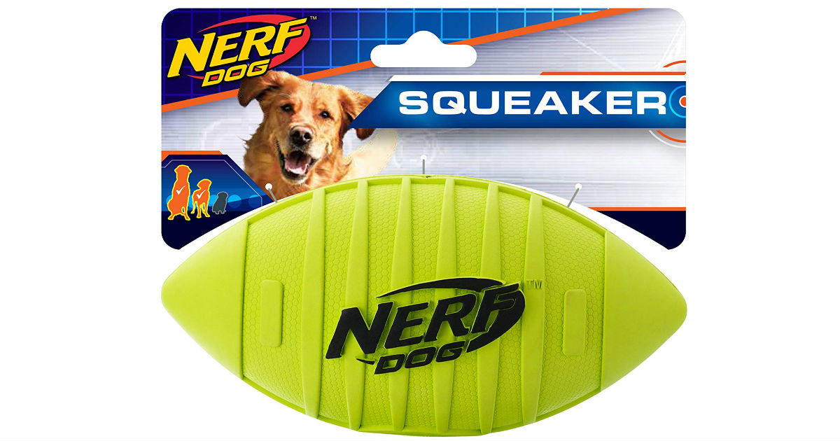 Nerf Dog Squeak Rubber Football Dog Toy ONLY $3.25 (Reg $12)