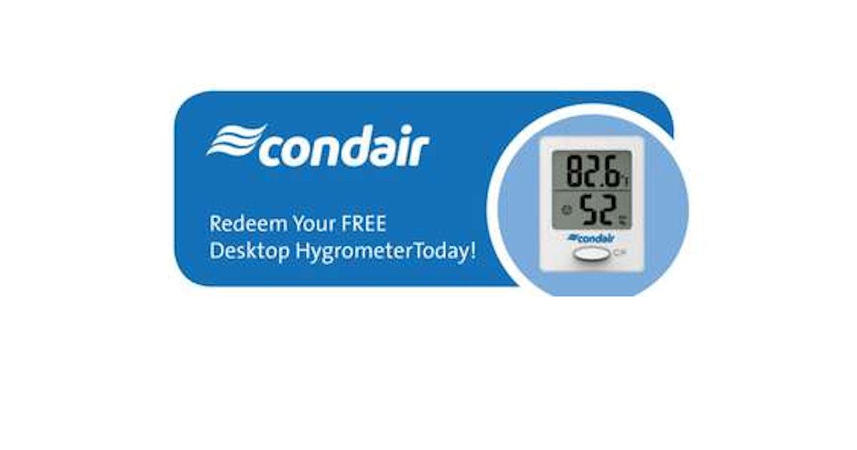 FREE Condair Desktop Hygrometer