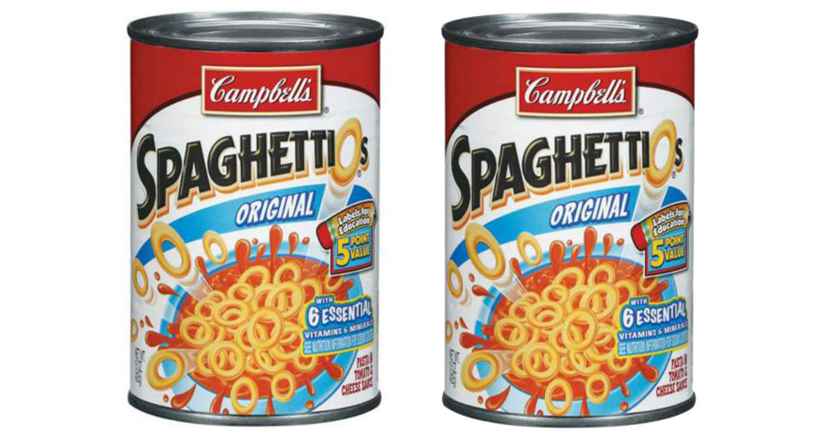 SpaghettiOs ONLY $0.54 at Walmart After Ibotta Rebate