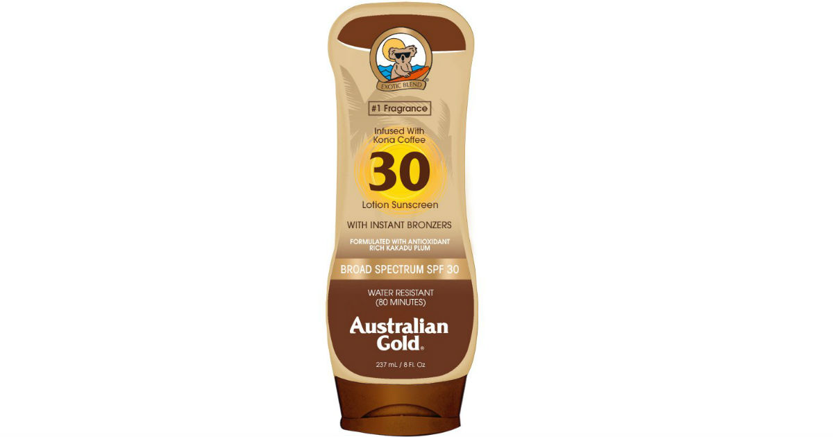 Australian Gold Sunscreen Lotion ONLY $2.88 Shipped
