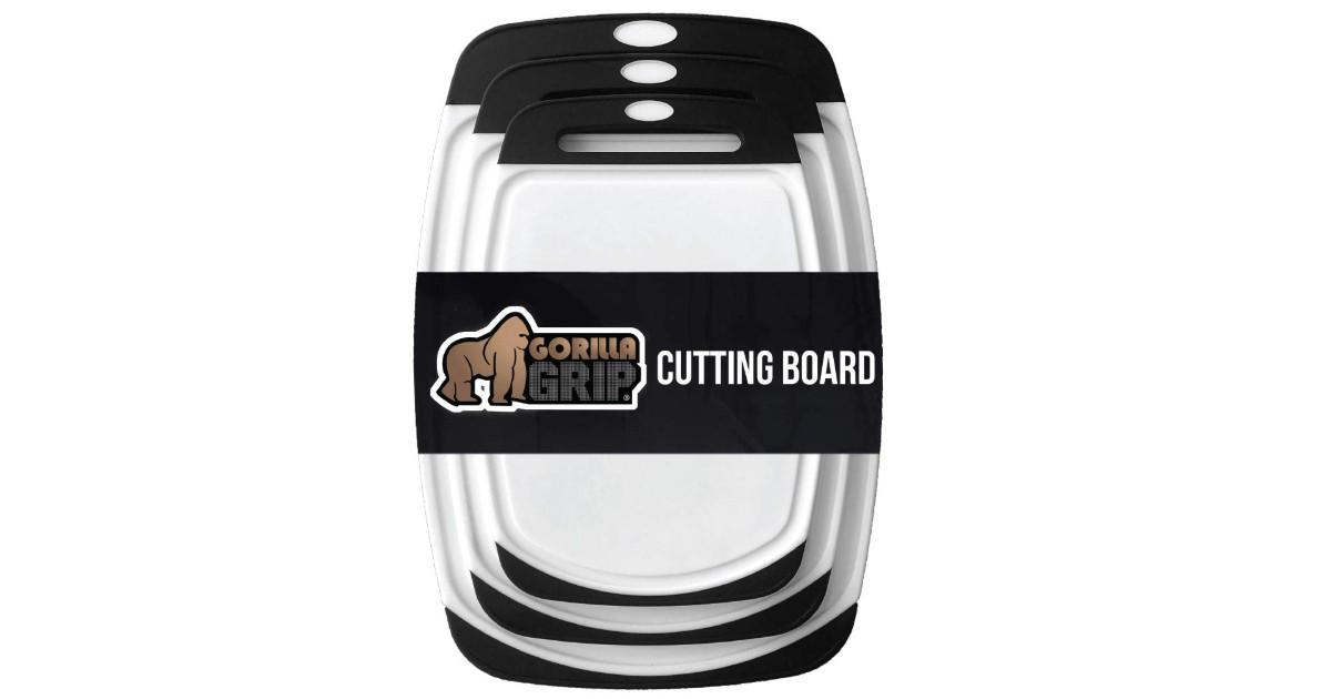 Gorilla Grip 3-Piece Cutting Board ONLY $15.99 (Reg. $40)