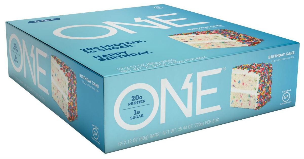 ONE Birthday Cake Protein Bars 12-Pk ONLY $17.82 at Shipped