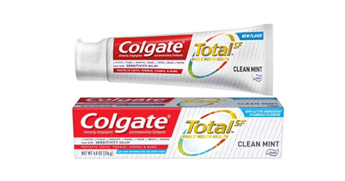 Colgate Total SF Toothpaste ONLY $0.92 Each at CVS (Reg $4)