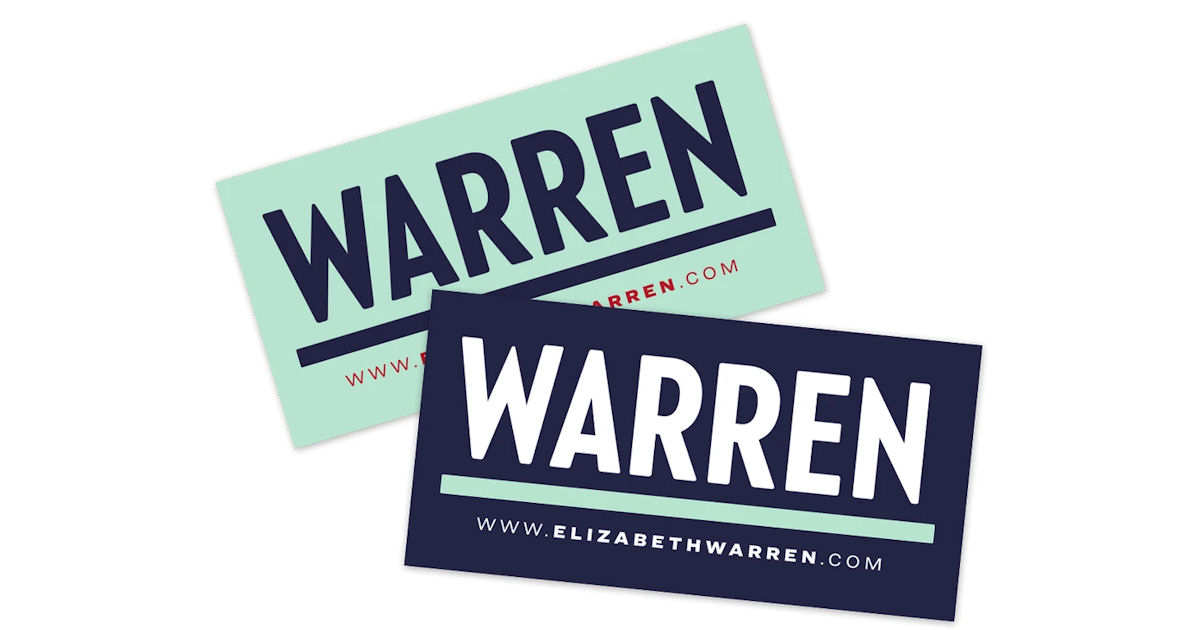 FREE Warren Sticker