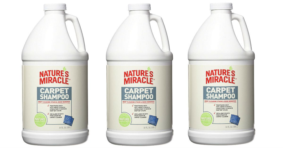 Nature's Miracle Deep Cleaning Carpet Shampoo ONLY $4.73 Shipped