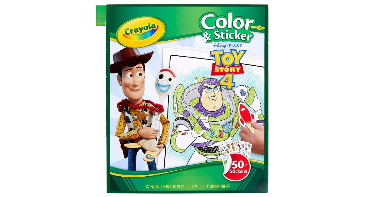 Crayola Toy Story 4 Coloring Pages ONLY $3.74 (Reg. $10)