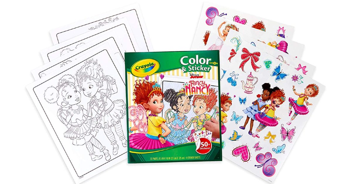 Crayola Fancy Nancy Coloring Pages ONLY $3.74 (Reg. $10)