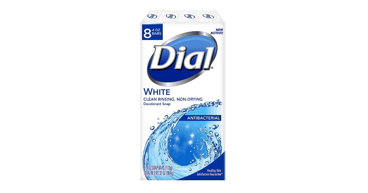 Dial Antibacterial Deodorant Soap 8-Pack ONLY $3.79 (Reg. $10)
