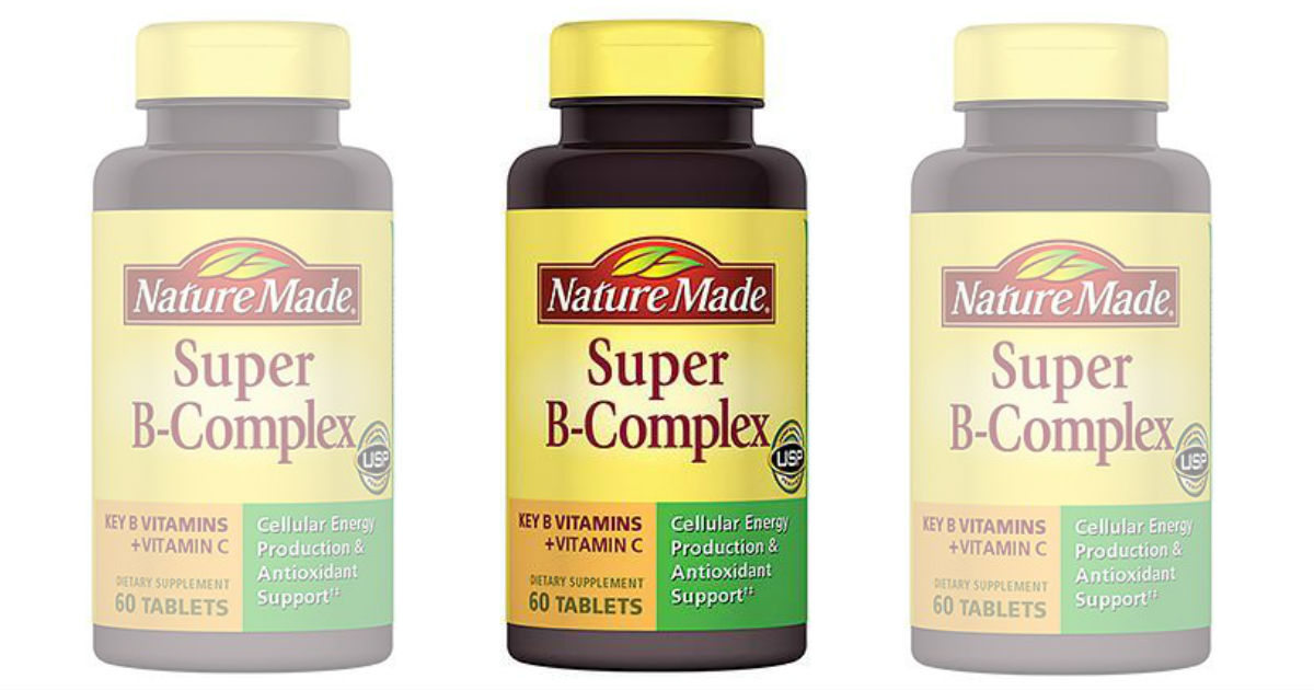 Nature Made Super B-Complex Tablets ONLY $1.39 at Walgreens