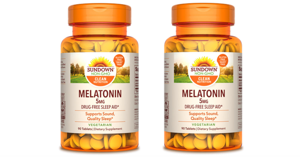 Sundown Naturals Melatonin Caplets ONLY $0.75 at CVS (Reg $9)