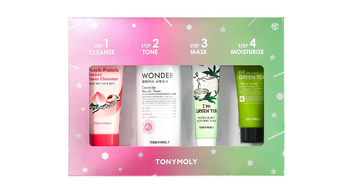 TONYMOLY 4 Steps For Glowing Skin Set ONLY $11.90 (Reg. $28)