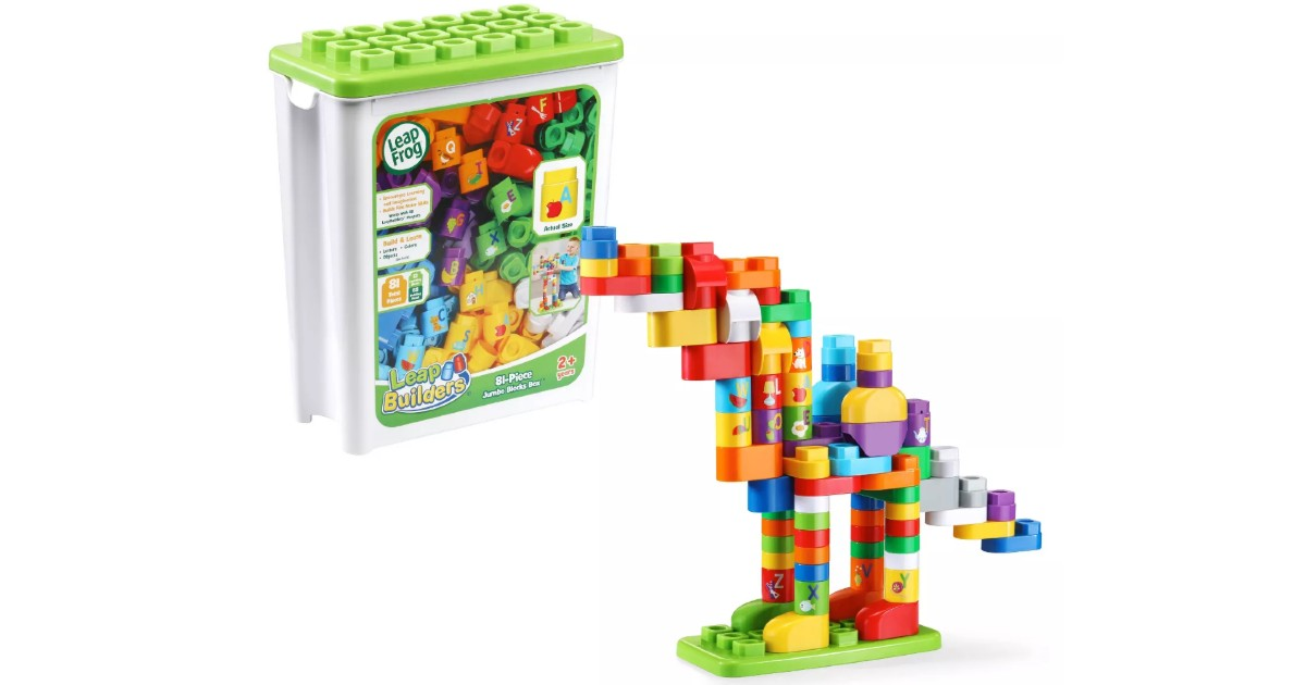 LeapFrog LeapBuilders 81 Piece Jumbo Blocks Box $6.29 (Reg $13)