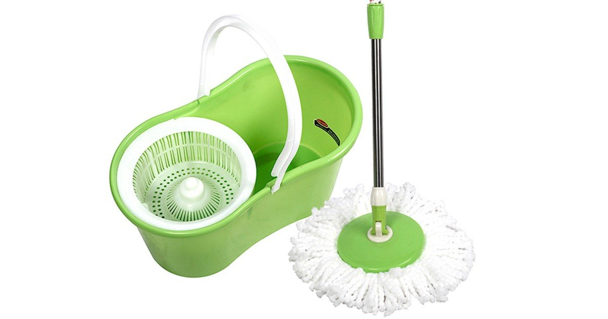 Zimtown Microfiber Spin Mop with Bucket $19.99 at Walmart