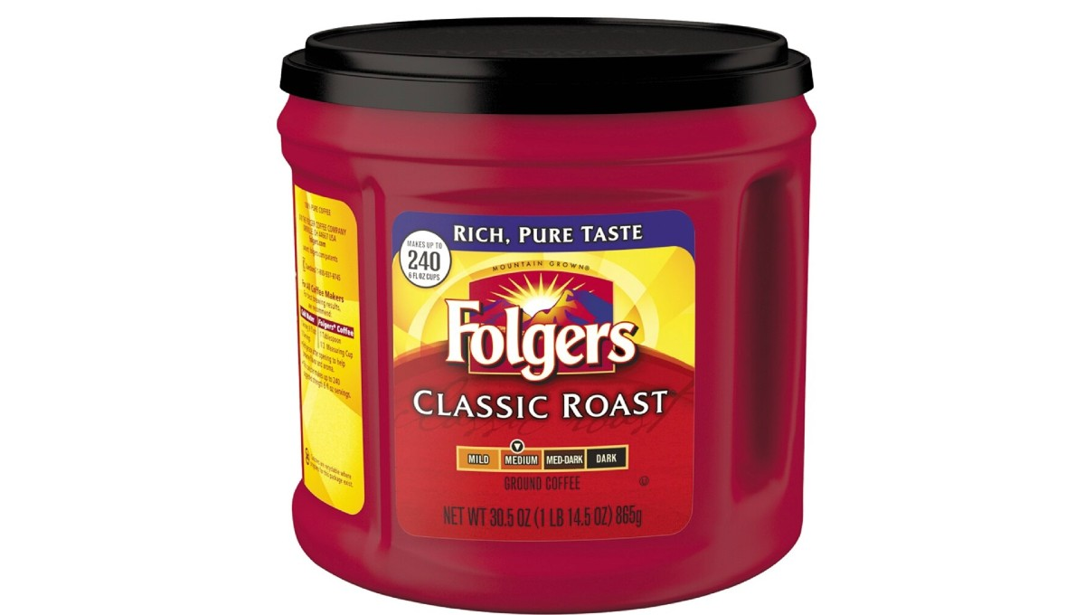 Folgers Classic Roast Coffee 30.5 oz Can ONLY $5.39 Shipped