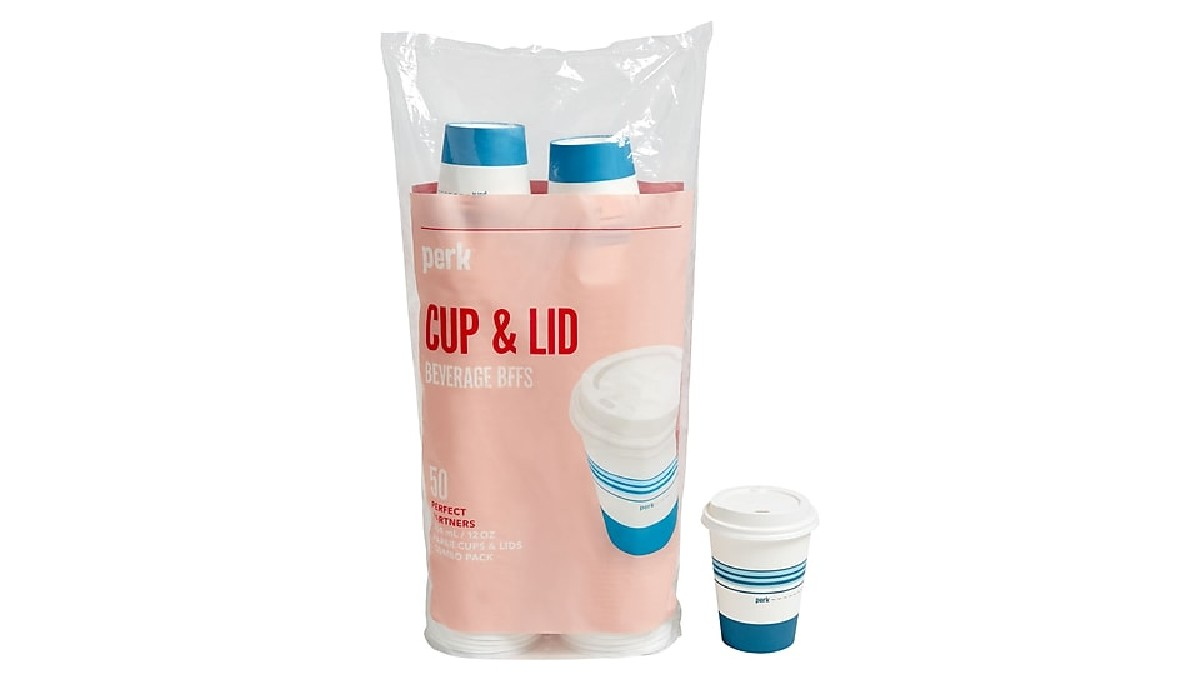 Paper Cups with Lids 50-Pack O...