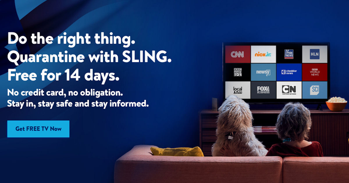 FREE 14-Day Sling Blue Live TV Streaming Service