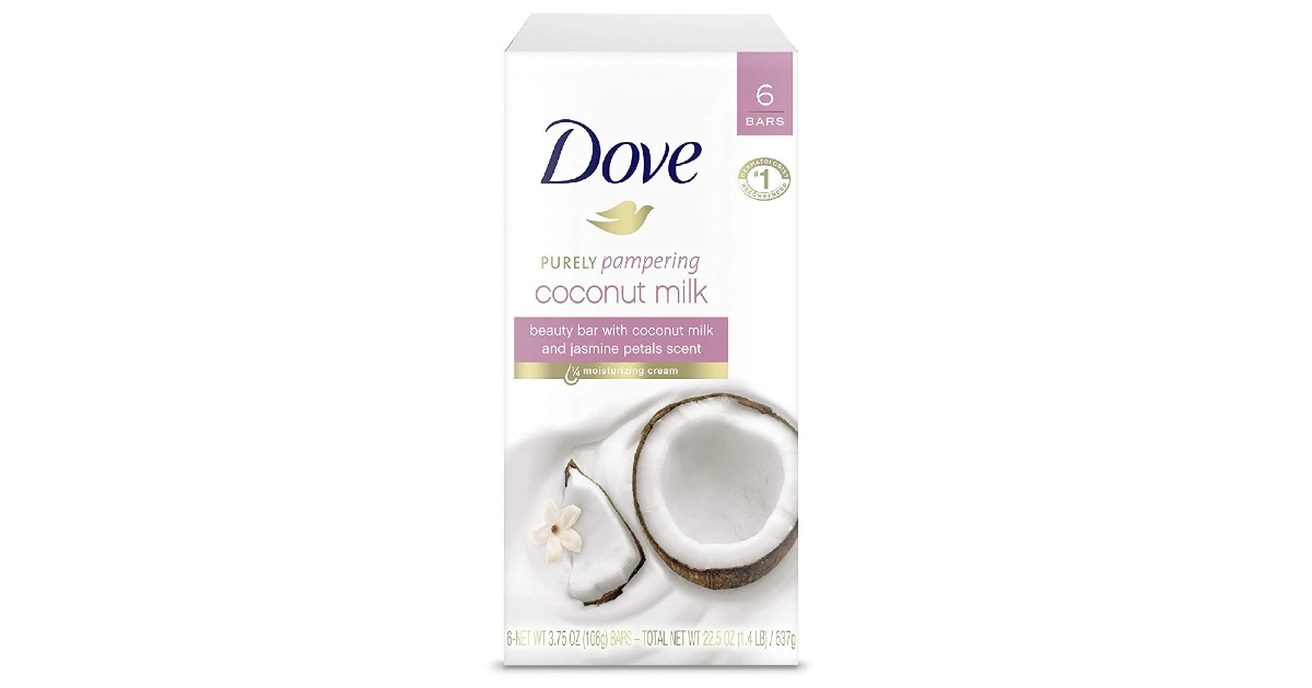Dove Beauty Bar Coconut Milk 6-Count ONLY $6.41 Shipped
