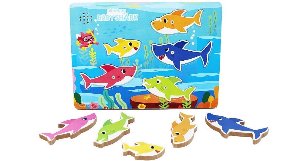 Pinkfong Baby Shark Wooden Sound Puzzle ONLY $5.40 on Amazon