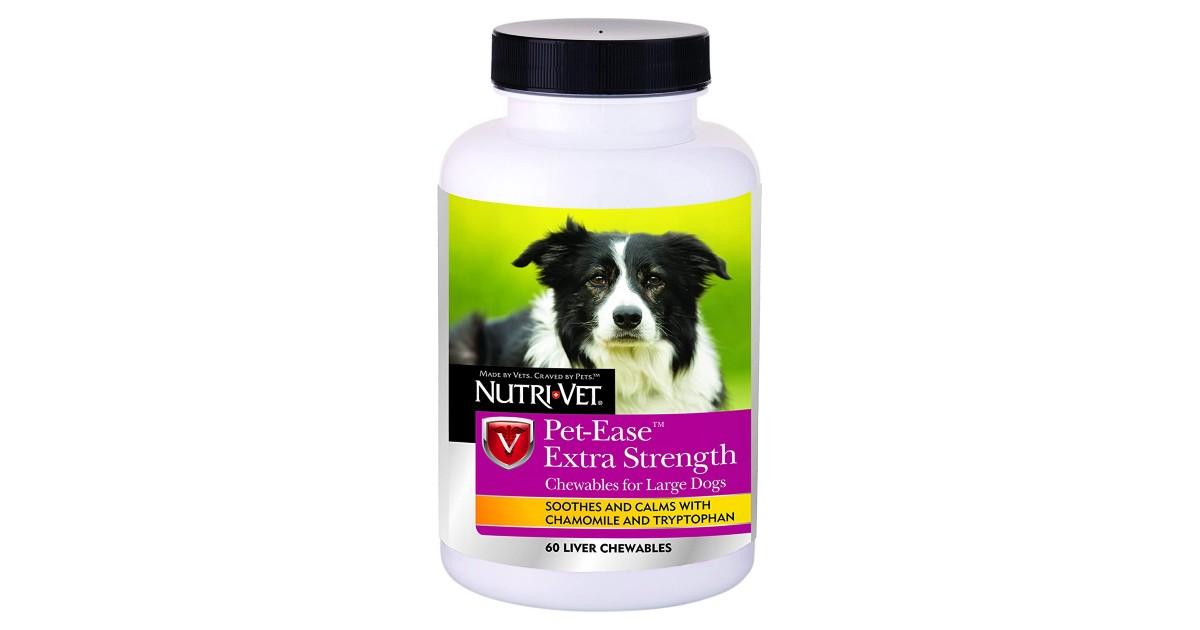 Nutri-Vet Wellness Pet-Ease Chewables 60-Ct $5.47 (Reg. $12)