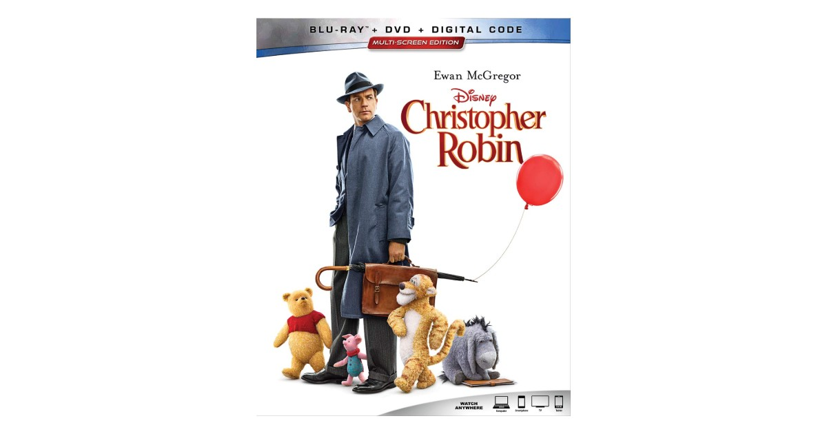 Christopher Robin Blu-ray + DVD + Digital ONLY $7.96 (Reg. $20)